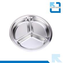 Plat plat en acier inoxydable en forme de plate-forme