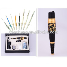 Deluxe Gold Dragon rotary tattoo machine & lip tattoo / eyebrow tattoo / eyeliner tattoo machine kit