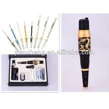 Deluxe Gold Dragon máquina de tatuagem rotativa e tatuagem de lábios / sobrancelha tatuagem / eyeliner kit de máquina de tatuagem