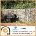 1mX1mX0.5m Galfan galvanized Zn gabion stone cage welded flexible Zoo gabion basket