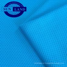 100% poliéster coolness tecido de favo de mel para t-shirt polo camisas