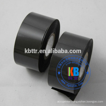 Black hot stamping foil type date coding ribbon  plastic package printing date stamp for food