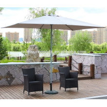 Parasol de jardin carré en métal
