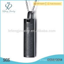 Mens prata ouro preto azul colar pingentes de jóias por atacado