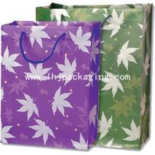 Hochwertige Silk Screen Sliver Papiertüte mit Griff