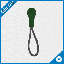 Resin Plastic String Zipper Puller in Green Color