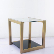 european style creative toughened glass end table