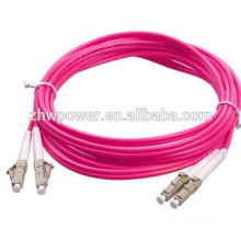 Chine fournit le cordon de raccordement fibre optique lc sc fc st duplex om4, cavalier à fibres optiques, cordon optique