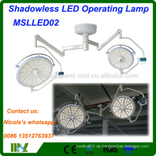 Medizinische Geräte Shadowless LED Bedienlicht MSLLED02i Krankenhaus chirurgischen LED-Operation Theater Licht mit 128 LED-Lampen
