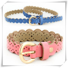 Colorful Lace PU Leather Belt for Promotional Gift (TI06004)
