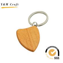 Porte-clés en bois de logo de gravure de cadeau de promotion