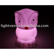 Lámpara de luz de noche de suave diseño de goma de PVC