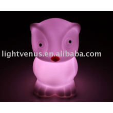 PVC soft gum new design night light lamp