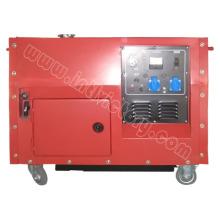 Однофазный бесшумный бензиновый генератор мощностью 8.5 кВт