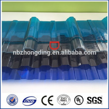 1mm clear bayer pc corrugated pc sheet