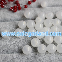 8MM, 10MM, 12MM Acrylic Round Translucent Chunky Gumball Beads Jelly Milky White Color