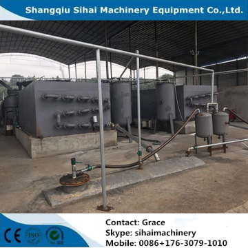 hot sale waste tire refining to oil machine