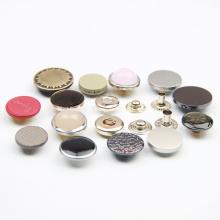 Botones metálicos de aleación de botón con forma de hongo para prendas de vestir