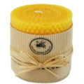pure hand scroll beeswax candle 100% natural