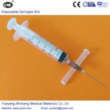 Одноразовый стерильный шприц с иглой 5 кубиков (ЕНК-ДС-053)