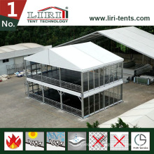 Cube A Shape Dome Shape Double Decker Two Storey Tent Structure