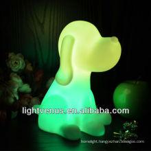 Dog-shaped Color Changing single led night light