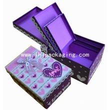 Caja de papel de embalaje de chocolate vacía al por mayor de alta calidad