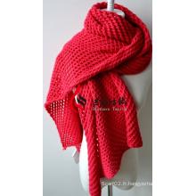 Châle en acrylique tricoté (12-BR201812-7)