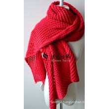 Acrylic Knitted Shawl (12-BR201812-7)