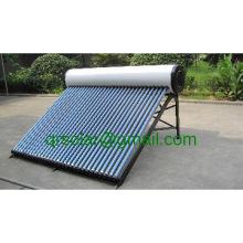 high efficient vacuum tube 300 liter pressurized solar water heater