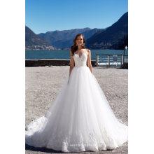 Espaguete perolização marfim praia vestido de noiva vestidos de noiva