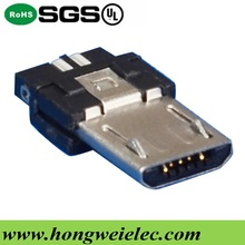 Super Thin Type Male 5pin Micro USB Connector