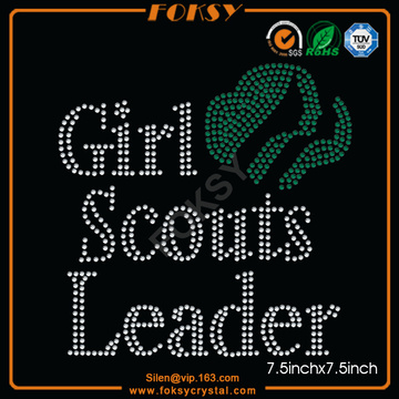 Girl Scouts Leader t shirt rhinestone transfers