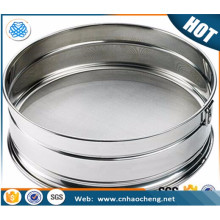 Pantalla de filtro de alambre de tamiz de prueba de malla de acero inoxidable de alta filtración para el suelo de laboratorio y filtro de arena