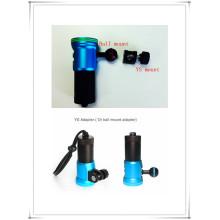 Torche de plongée de lampe de poche led de xml2 sous-marine de haute qualité
