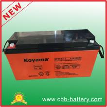 Bateria solar de 12V 150ah AGM para telecomunicações, central energética