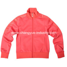 Las parejas chaquetas deportivas para el diseño de moda con material punto