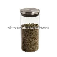 Pyrexglas-Kanister-Metalldeckel-Großverkauf