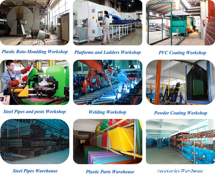 production line of fun indoor playground
