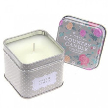 fragrant square tin candles for home decoration