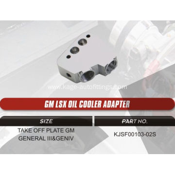GM LSX oil cooler adapters