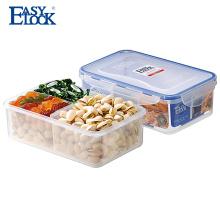 Recipiente de alimento claro plástico livre livre de BPA multi com divisores