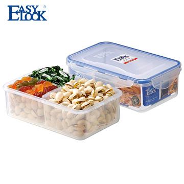 BPA Free Plastic Clear Contenedor de alimentos con compartimientos múltiples