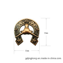 Customized Zinc Alloy Fashion U Shape Metal Label for Bags