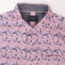Chemise de travail à manches longues en coton à boutons pour homme