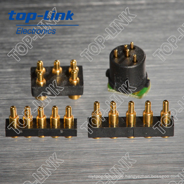 5pin Brass Pogo Pin Connector with Heavy Current-Load, Low Profit