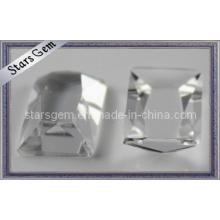 Perles de verre coupées trapézoïdales claires