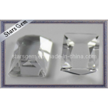 Clear Trapezoid Cut Glass Beads