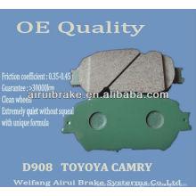 Pastilla de freno de cerámica D908 Camry