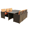 Classic Outdoor Rattan Dining Cube Table Furniture